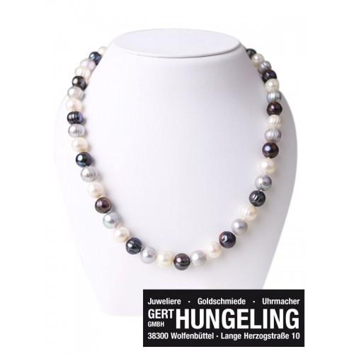 Perlenhalskette multicolor - Juwelier Hungeling