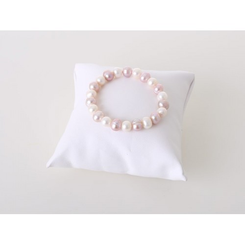 Süßwasser-Armband zart rosé