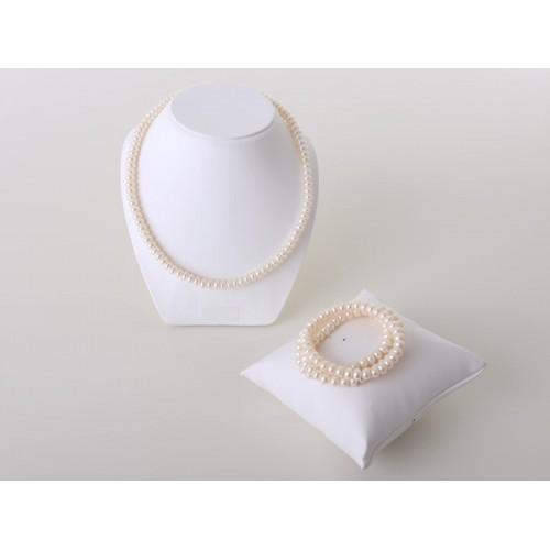 Süßwasser-Perlenset weiß - Juwelier Hungeling