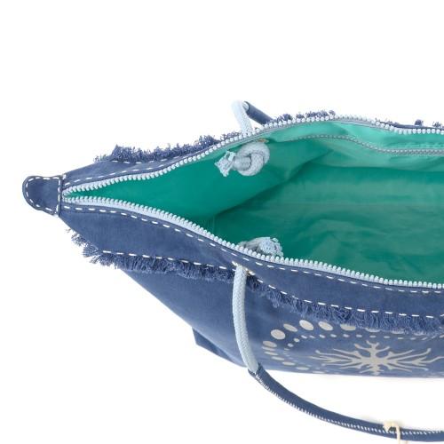 Sanddollar Beach Bag XXL 'Silver Coral Ocean Blue'