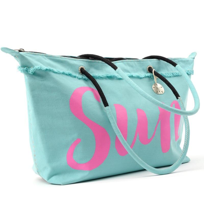 Sanddollar Beach Bag XXL 'Sunny Aqua'