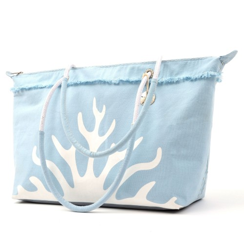 Sanddollar Beach Bag XXL 'White Coral Icy Blue'