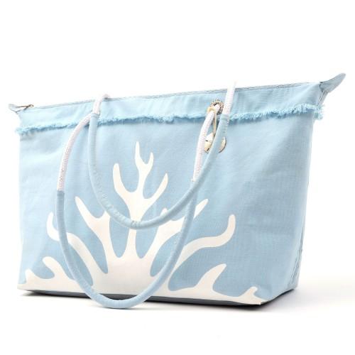 Sanddollar Beach Bag XXL 'White Coral Icy Blue'