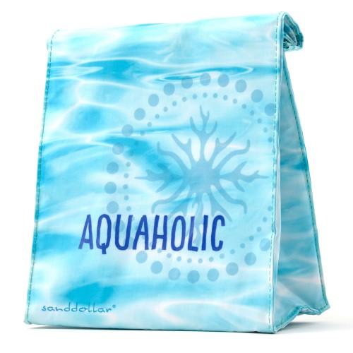 """Sanddollar Lunchbag """"Aquaholic"""""""