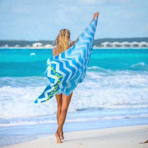 """Sanddollar Strandtuch XXL """"Pink Palm Beach"""""""